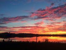 Σύννεφα ηλιοβασιλέματος Στοκ εικόνα με δικαίωμα ελεύθερης χρήσης
