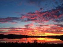 Σύννεφα ηλιοβασιλέματος Στοκ Φωτογραφία