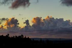 σύννεφα ηλιοφώτιστα στοκ εικόνες με δικαίωμα ελεύθερης χρήσης