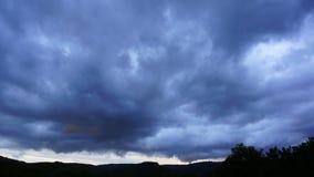 σύννεφα θυελλώδη απόθεμα βίντεο