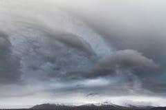 Σύννεφα θύελλας πέρα από την Ισλανδία Στοκ Φωτογραφίες