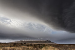 Σύννεφα θύελλας πέρα από την Ισλανδία Στοκ εικόνες με δικαίωμα ελεύθερης χρήσης
