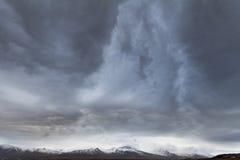 Σύννεφα θύελλας πέρα από την Ισλανδία Στοκ Φωτογραφία