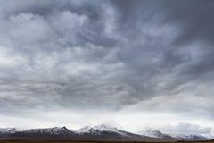 Σύννεφα θύελλας πέρα από την Ισλανδία Στοκ εικόνα με δικαίωμα ελεύθερης χρήσης