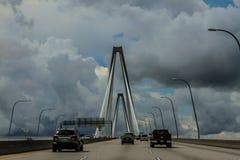Σύννεφα θύελλας στη γέφυρα Ravenel, Τσάρλεστον, Sc Στοκ φωτογραφία με δικαίωμα ελεύθερης χρήσης