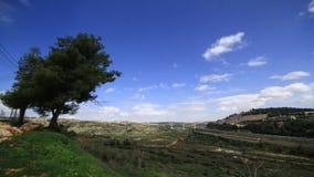 Σύννεφα Ιερουσαλήμ Ισραήλ θύελλας χρονικού σφάλματος απόθεμα βίντεο