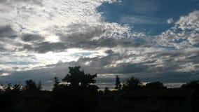 Σύννεφα και ήλιος Στοκ Εικόνα