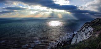 Σύννεφα και πανόραμα θάλασσας Στοκ εικόνες με δικαίωμα ελεύθερης χρήσης