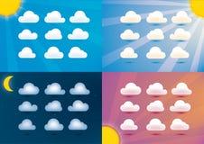 Σύννεφα και σύνολο ουρανού Στοκ φωτογραφία με δικαίωμα ελεύθερης χρήσης