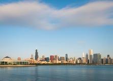 Σύννεφα κατά τη διάρκεια του πρωινού Σικάγο κεντρικός Στοκ Φωτογραφίες