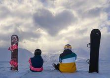 Σύννεφα με μορφή της καρδιάς Στοκ Εικόνες