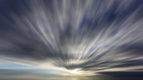 Σύννεφα με τη μακροχρόνια επίδραση έκθεσης Στοκ εικόνα με δικαίωμα ελεύθερης χρήσης