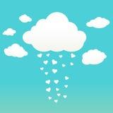 Σύννεφα με τις καρδιές Στοκ Εικόνες