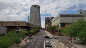 Σύννεφα μουσώνα επάνω από τη λεωφόρο της Ουάσιγκτον, Phoenix, AZ απόθεμα βίντεο