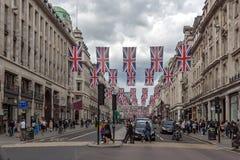 Σύννεφα πέρα από την οδό αντιβασιλέων, πόλη του Λονδίνου, Αγγλία, Μεγάλη Βρετανία Στοκ φωτογραφία με δικαίωμα ελεύθερης χρήσης
