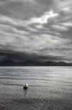 Σύννεφα πέρα από τη λίμνη Γενεύη, Ελβετία, Ευρώπη Στοκ Εικόνες
