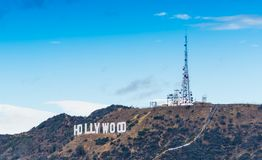 Σύννεφα πέρα από το παγκοσμίως διάσημο σημάδι Hollywood Στοκ εικόνα με δικαίωμα ελεύθερης χρήσης