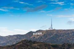 Σύννεφα πέρα από το παγκοσμίως διάσημο σημάδι Hollywood Στοκ φωτογραφία με δικαίωμα ελεύθερης χρήσης