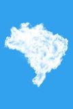 Σύννεφα που διαμορφώνουν τη μορφή της Βραζιλίας Στοκ Εικόνες