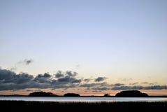 Σύννεφα που περιπλανώνται στον ουρανό Στοκ Εικόνα