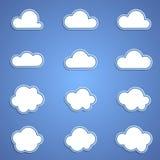 σύννεφα που τίθενται Στοκ Εικόνα