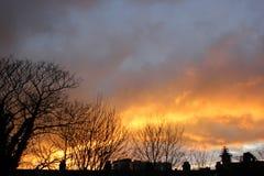 Σύννεφα πυρκαγιάς στοκ εικόνες