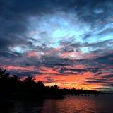 Σύννεφα στα κλειδιά της Φλώριδας παραδείσου Στοκ Φωτογραφίες