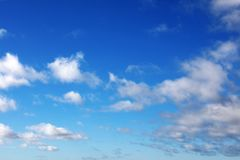 Σύννεφα στον ουρανό Στοκ Εικόνες