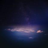 Σύννεφα στο πανόραμα ατμόσφαιρας ουρανού στοκ φωτογραφίες