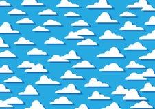 Σύννεφα σχεδίων Στοκ Φωτογραφία