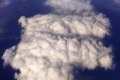 Σύννεφα σωρειτών, άποψη από το αεροπλάνο στοκ εικόνες