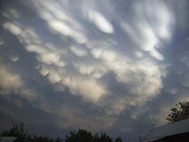 Σύννεφα Σύννεφα στη στέπα Στοκ Φωτογραφία