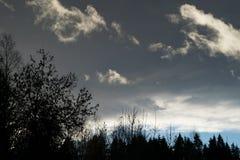 Σύννεφα της Νίκαιας στον ουρανό Στοκ εικόνα με δικαίωμα ελεύθερης χρήσης