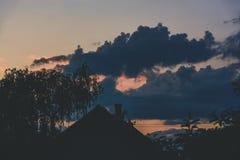 Σύννεφα το βράδυ Στοκ Εικόνες