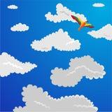 σύννεφα χνουδωτά Στοκ φωτογραφίες με δικαίωμα ελεύθερης χρήσης