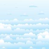 σύννεφα χνουδωτά Στοκ Φωτογραφία