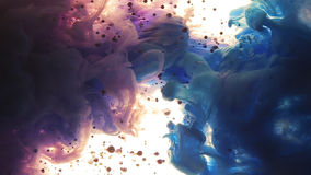 Σύννεφα χρώματος Τα χρώματα έριξαν υποβρύχιο Φυσαλίδες και χρώματα που αυξάνονται στην πίσω πτώση χρώματος