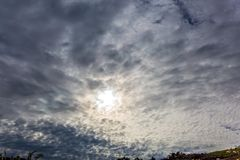 Σύννεφα Altocumulus στοκ φωτογραφία με δικαίωμα ελεύθερης χρήσης