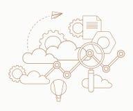 Σύννεφα Analytics Στοκ Φωτογραφία
