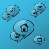 Σύννεφα chat1 Στοκ εικόνες με δικαίωμα ελεύθερης χρήσης