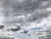 Σύννεφα Nimbus, σκοτεινός δυσοίωνος ουρανός στοκ εικόνα