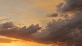 Σύννεφα Timelapse ηλιοβασιλέματος απόθεμα βίντεο