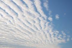 Σύννεφα undulatus stratiformis Altocumulus Στοκ φωτογραφία με δικαίωμα ελεύθερης χρήσης