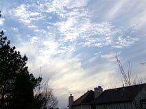 σύννεφα wispy Στοκ Εικόνα