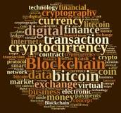 Σύννεφο λέξεων με Blockchain διανυσματική απεικόνιση