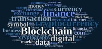 Σύννεφο λέξεων με Blockchain απεικόνιση αποθεμάτων