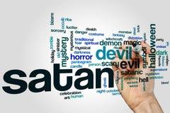 Σύννεφο λέξης της Satan Στοκ φωτογραφίες με δικαίωμα ελεύθερης χρήσης