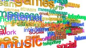 Σύννεφο λέξης υπηρεσιών Διαδικτύου απεικόνιση αποθεμάτων
