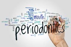 Σύννεφο λέξης Periodontics στοκ φωτογραφία