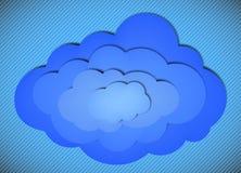 σύννεφο ανασκόπησης ριγωτό Στοκ Φωτογραφία